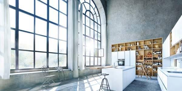 Weiße Küche Loft