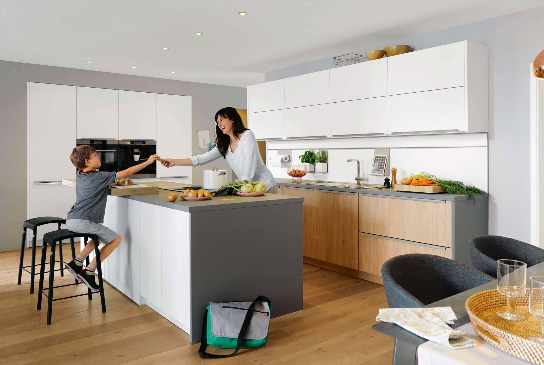 Kücheninsel modern weiß
