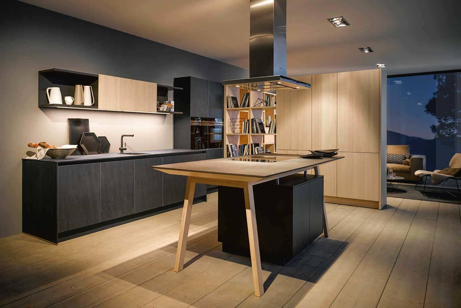 Küche schwarz Schieferoptik