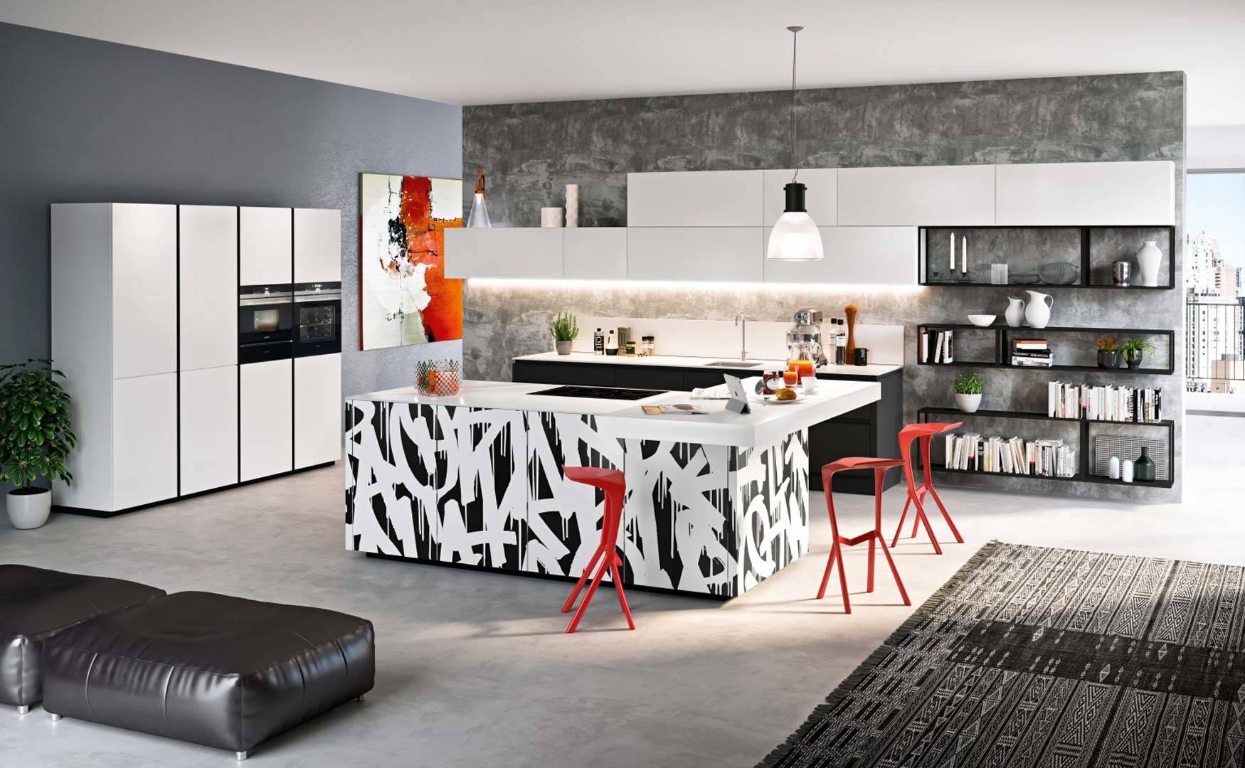 Küche weiß extravagant