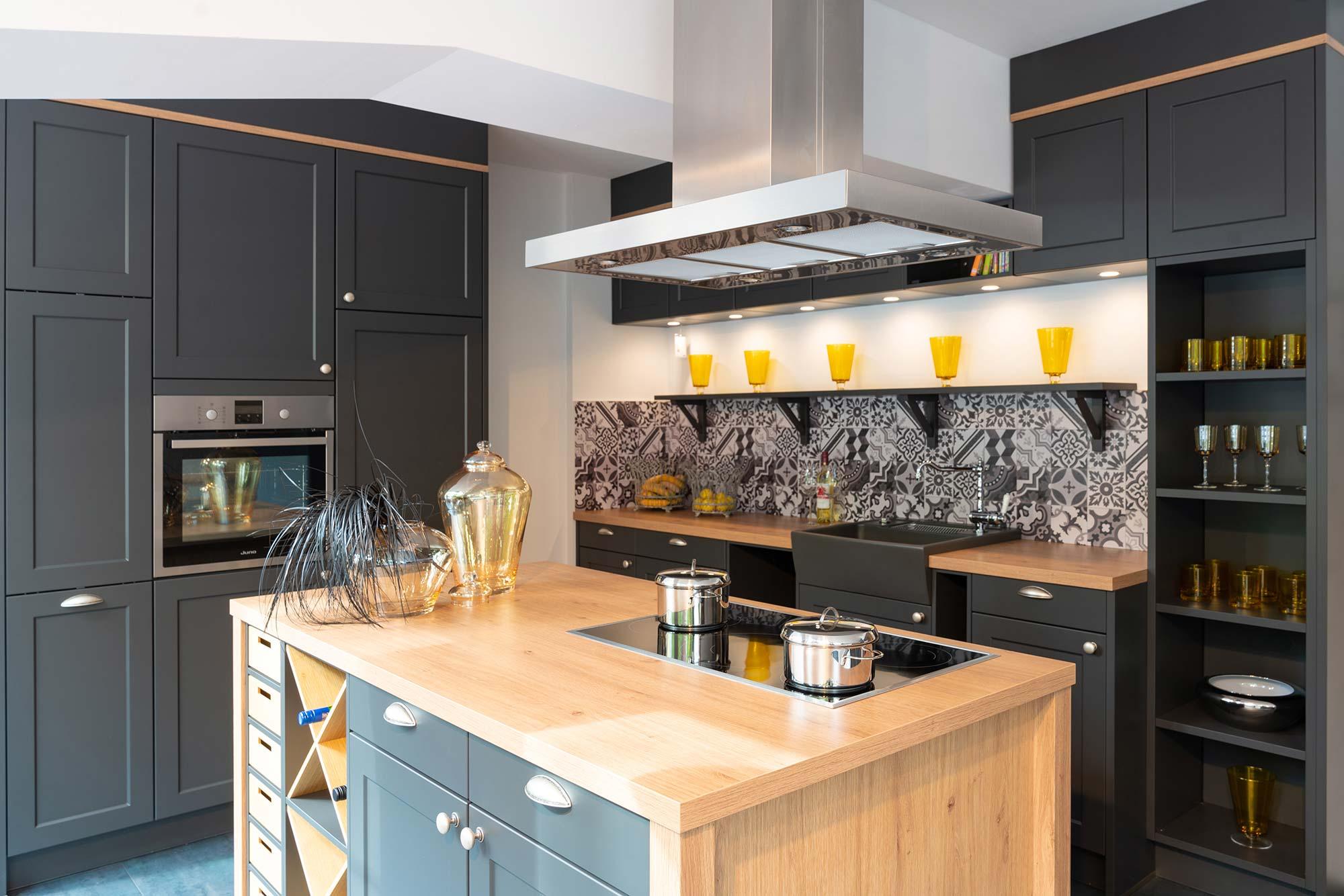 Küche Anthrazit Holz