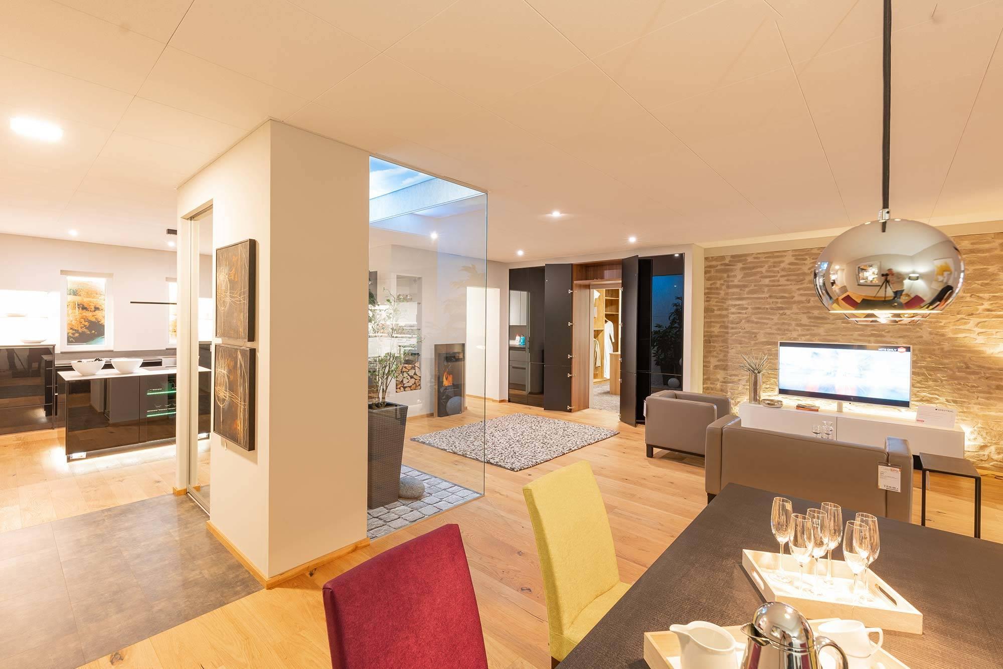 Küche Wohnzimmer Haus im Haus